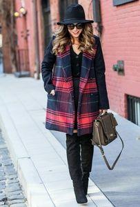 NWOT Gap Wool blend plaid car coat